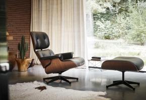 Eames Lounge Chair und LTR Mahagoni Vitra
